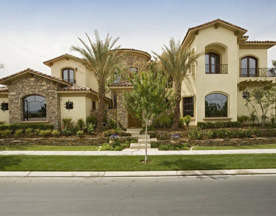 luxury custom home las vegas exterior front