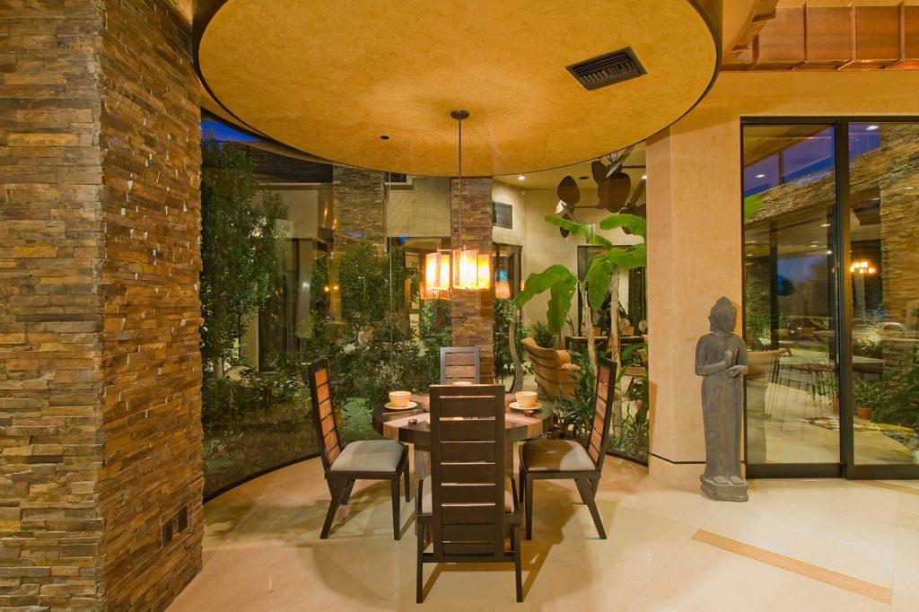 luxury custom home las vegas interior nook