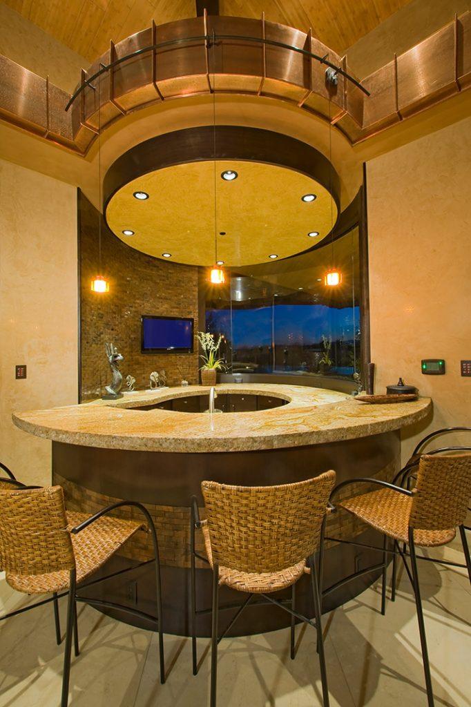 luxury custom home las vegas interior bar