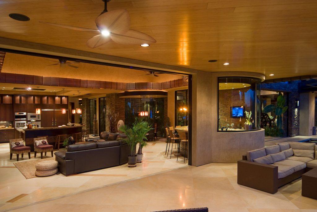 luxury custom home las vegas exterior backyard view