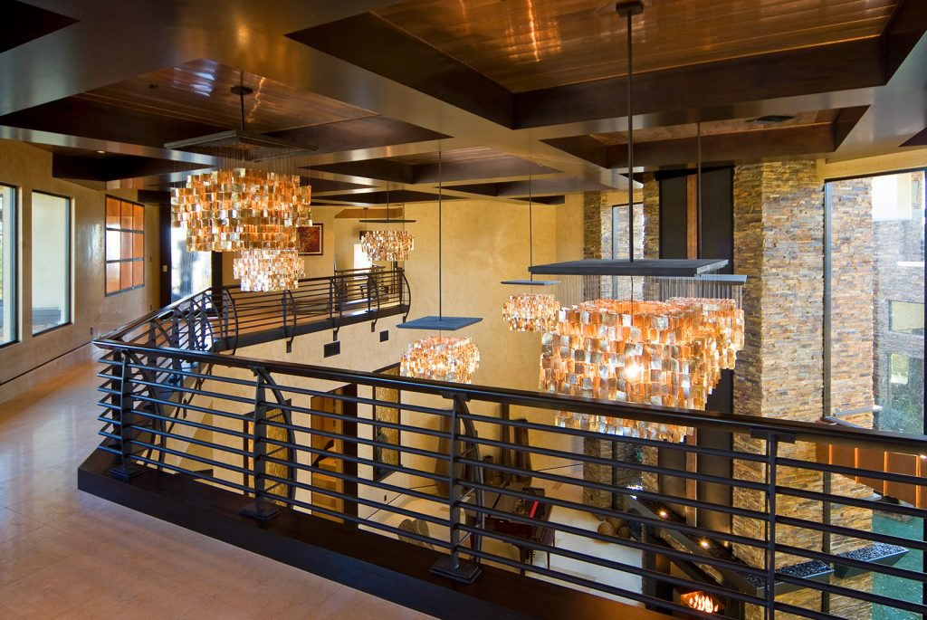 luxury custom home las vegas interior hallway