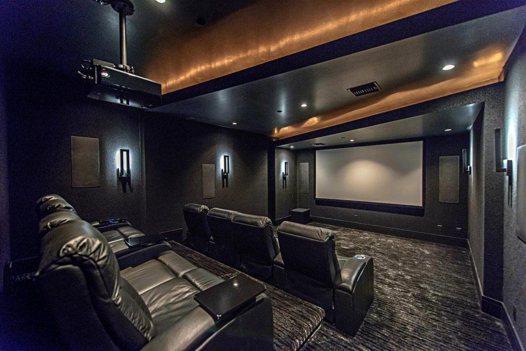 luxury custom home las vegas interior theater