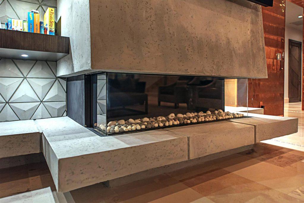 luxury custom home las vegas interior fireplace