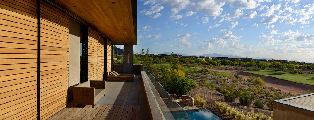 luxury custom home las vegas exterior balcony