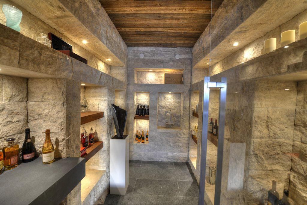 luxury custom home las vegas interior wine cellar