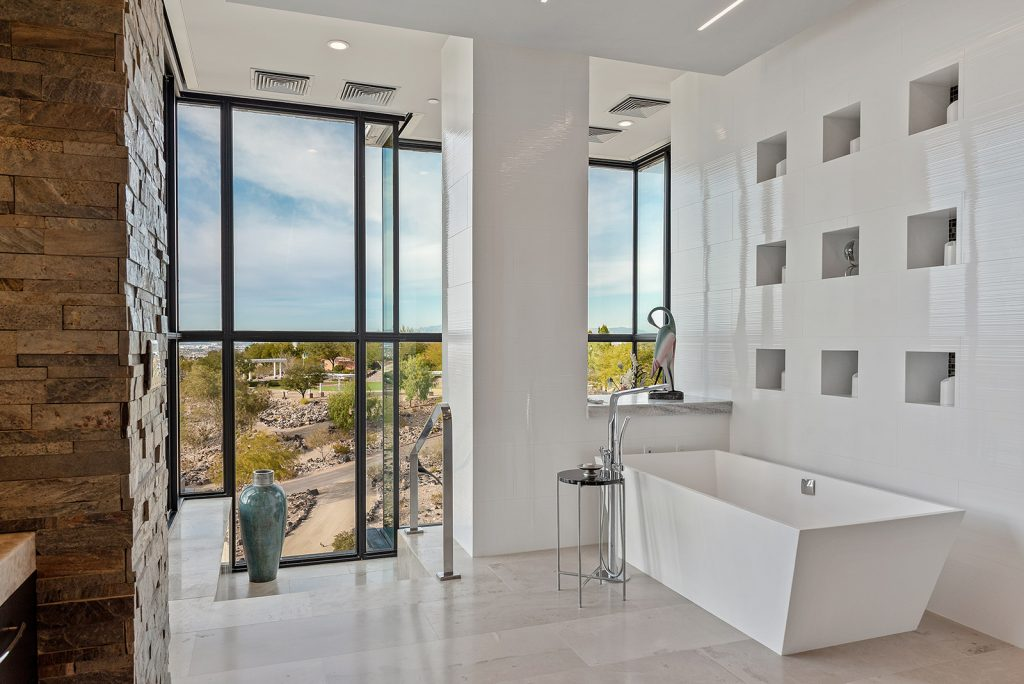 custom home las vegas interior bathroom
