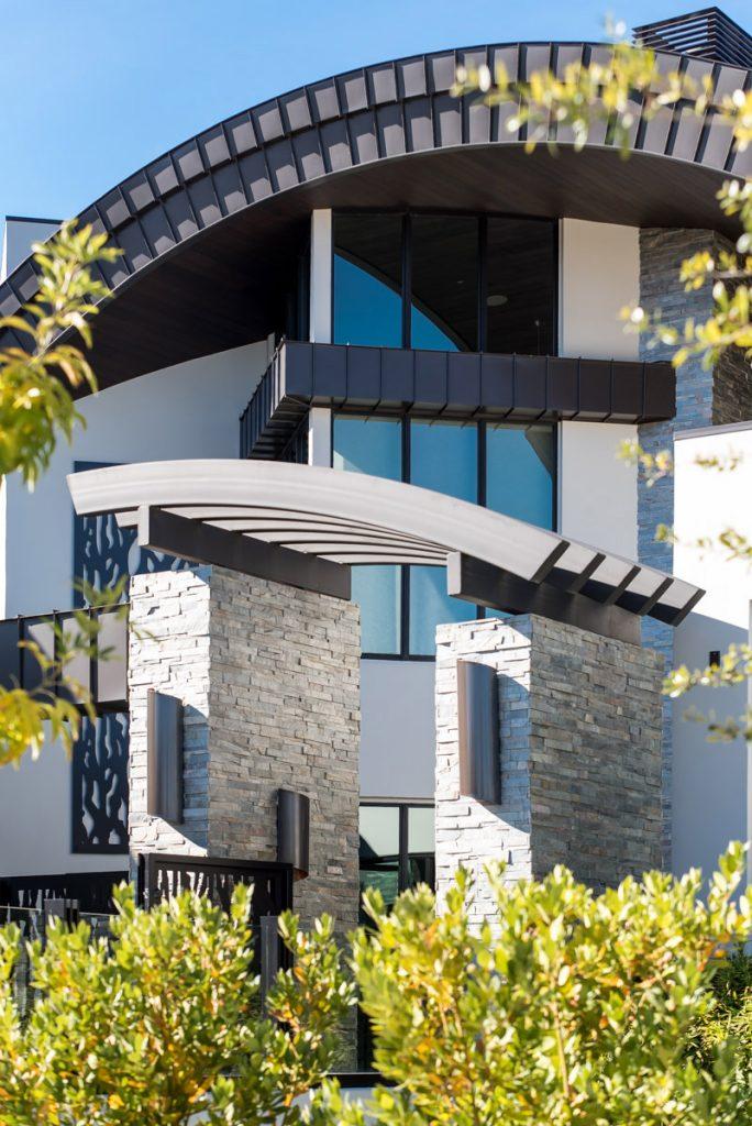 luxury real estate entrance