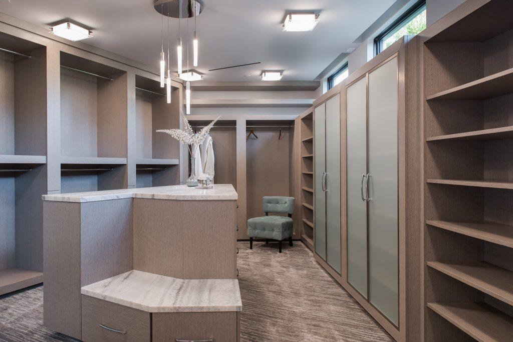 custom home built in closet