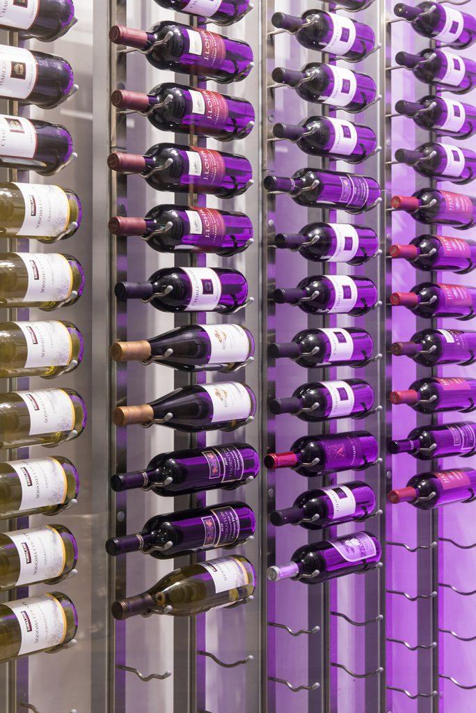 custom interior wine cellar