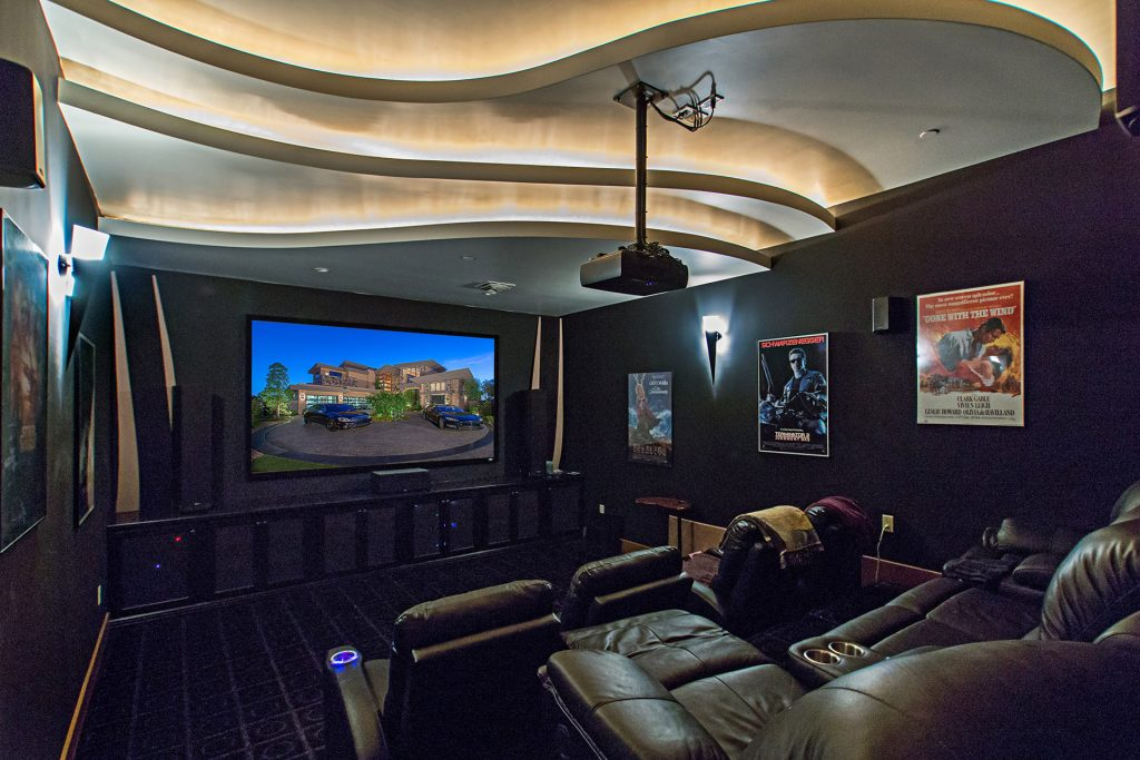 luxury custom home las vegas interior theater
