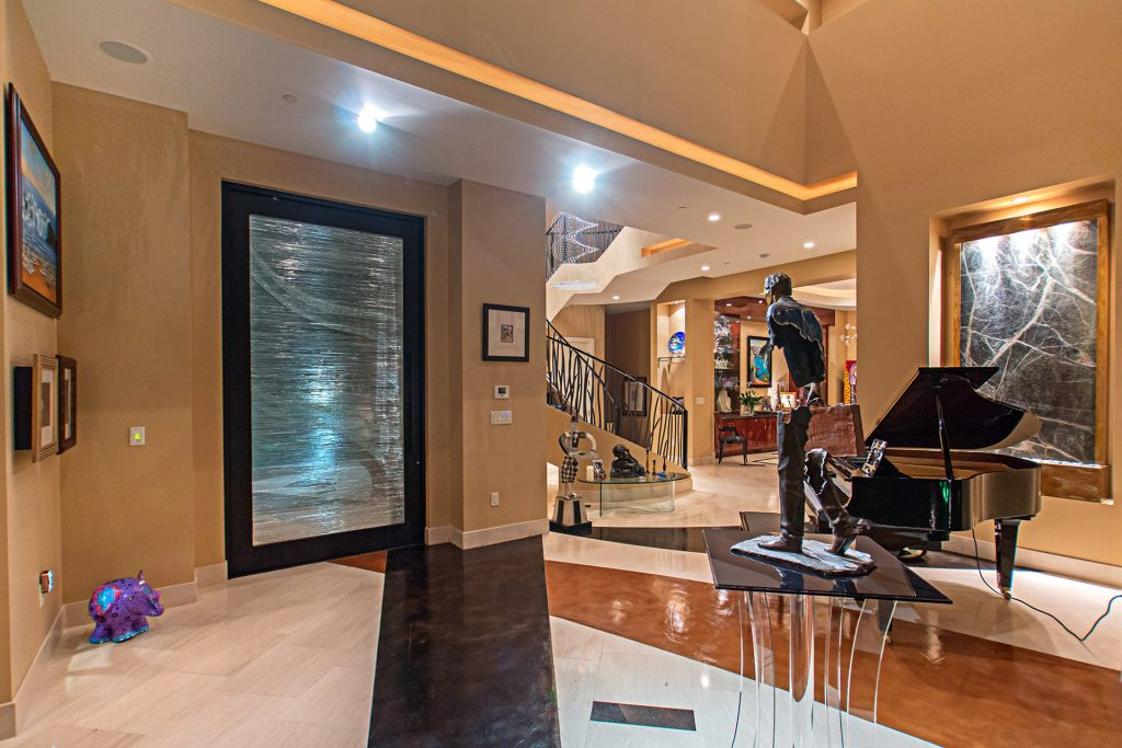 luxury custom home las vegas interior entrance