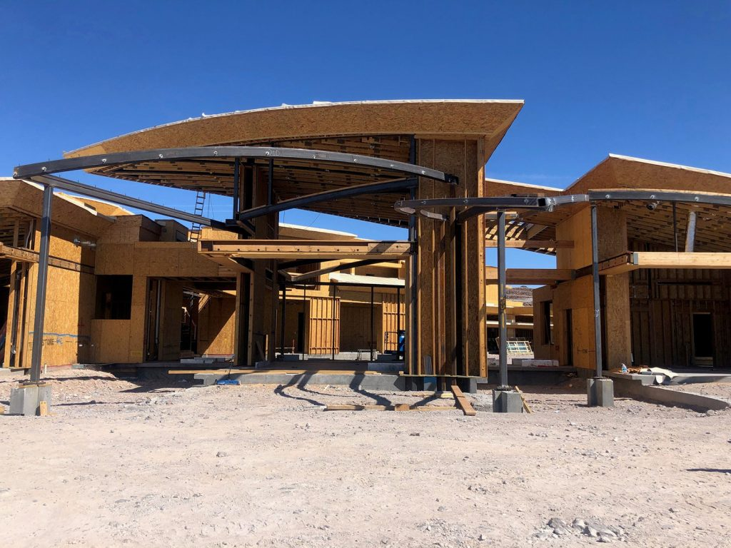 custom luxury las vegas home exterior progress
