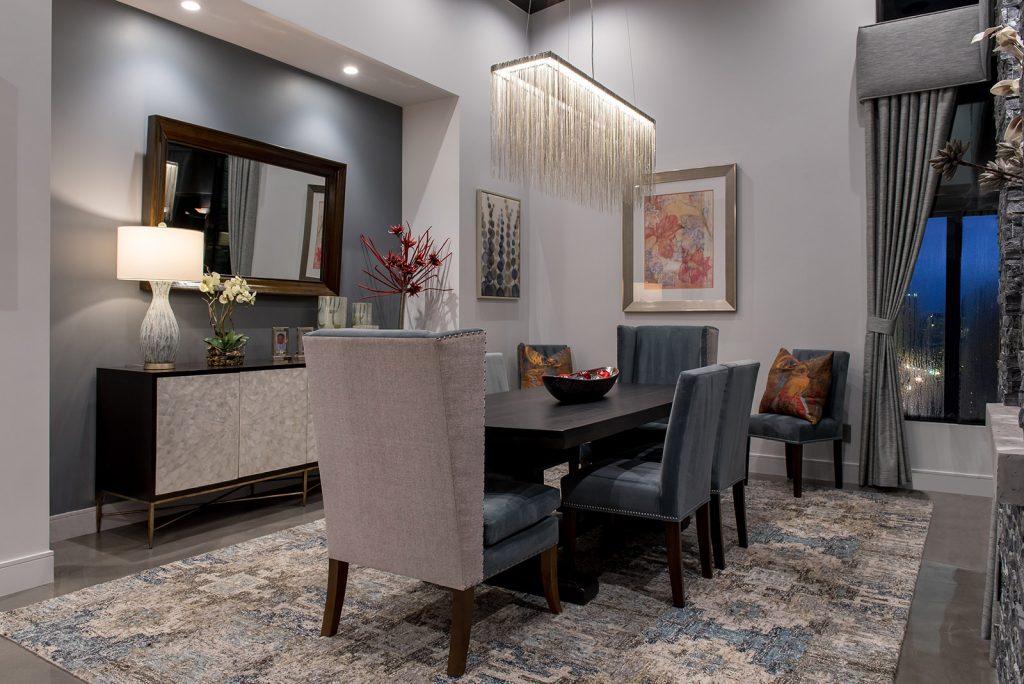 custom home las vegas interior dining room