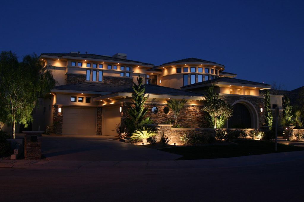 luxury custom home las vegas exterior front view