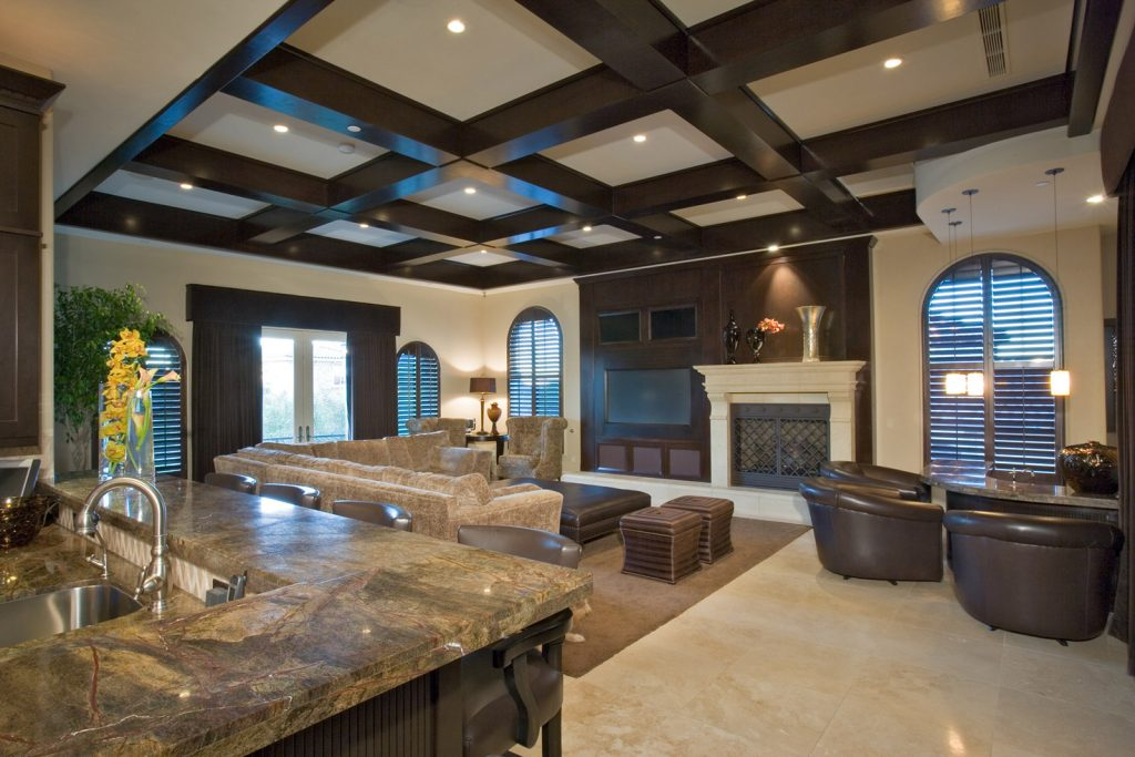 luxury custom home las vegas interior living room