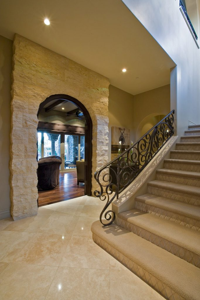 luxury custom home las vegas interior stairway