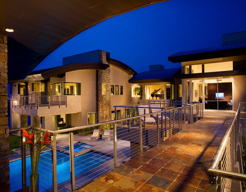 luxury custom home las vegas exterior hallway