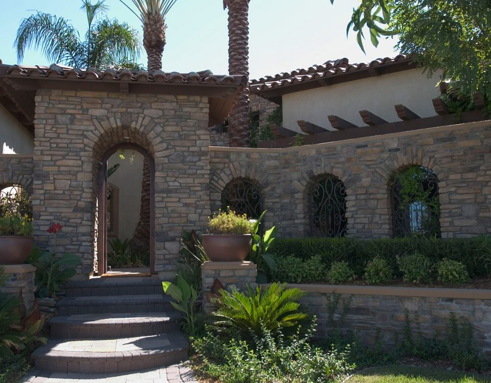 luxury custom home las vegas exterior entrance