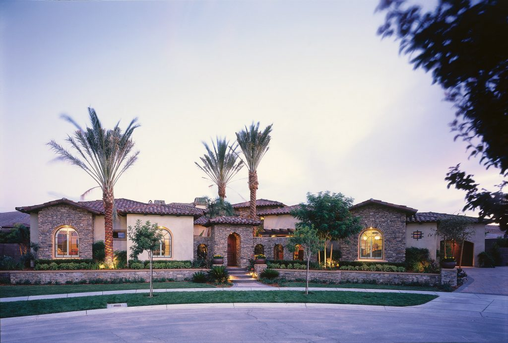 luxury custom home las vegas exterior view