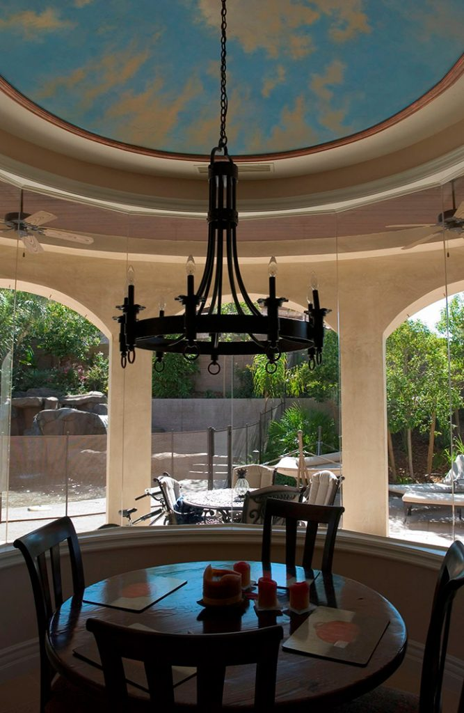 luxury custom home las vegas interior breakfast nook
