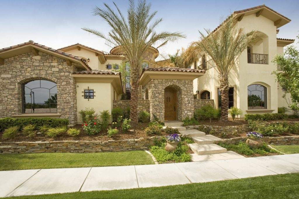 luxury custom home las vegas exterior front