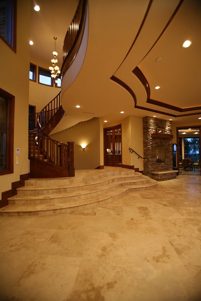 luxury custom home las vegas interior entryway
