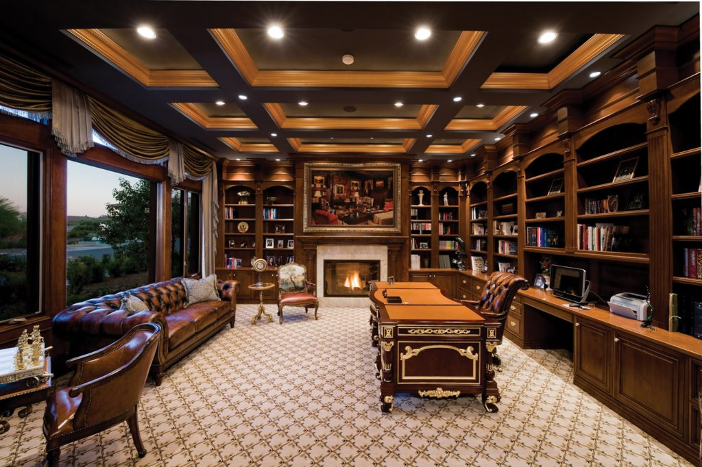 luxury custom home las vegas interior office