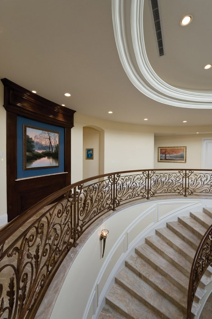 luxury custom home las vegas interior hallway