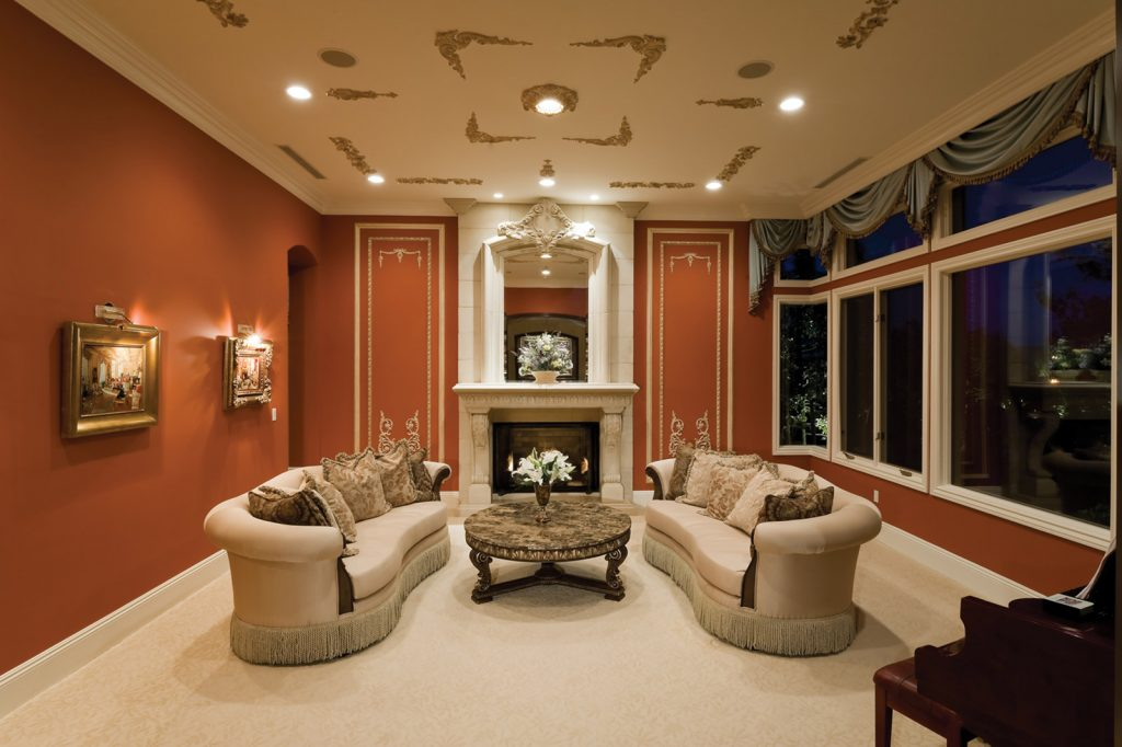 luxury custom home las vegas interior great room