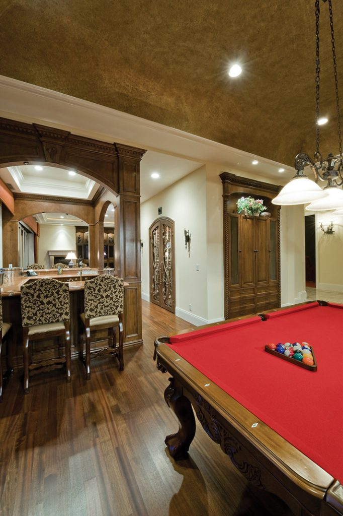 luxury custom home las vegas interior pool table