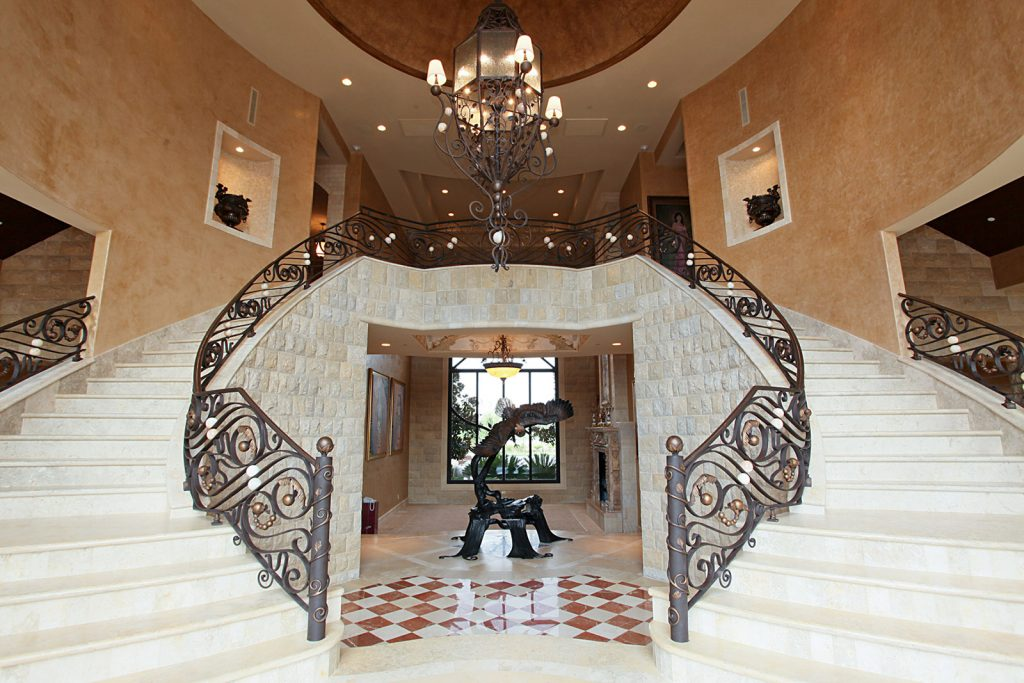 luxury custom home las vegas interior staircase