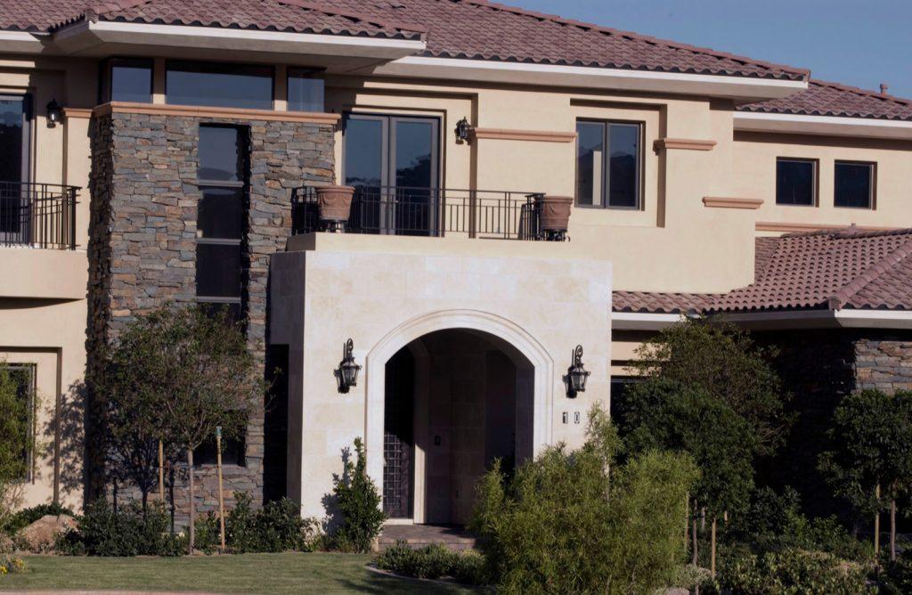 luxury custom home las vegas exterior front view