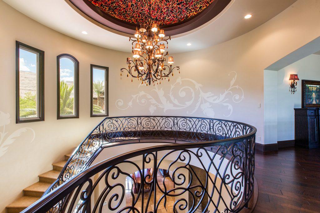 luxury custom las vegas home interior staircase