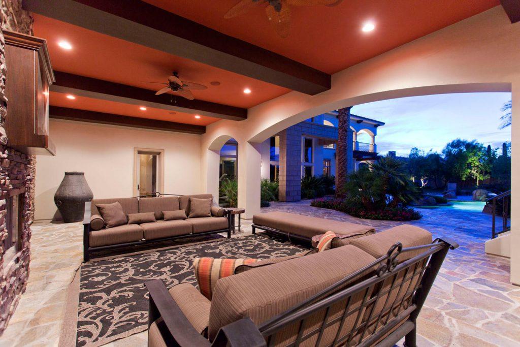 luxury custom home las vegas exterior