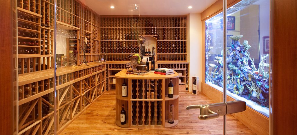 luxury custom home las vegas interior wine cellar