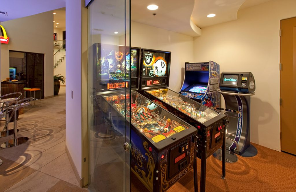 luxury custom home las vegas interior arcade