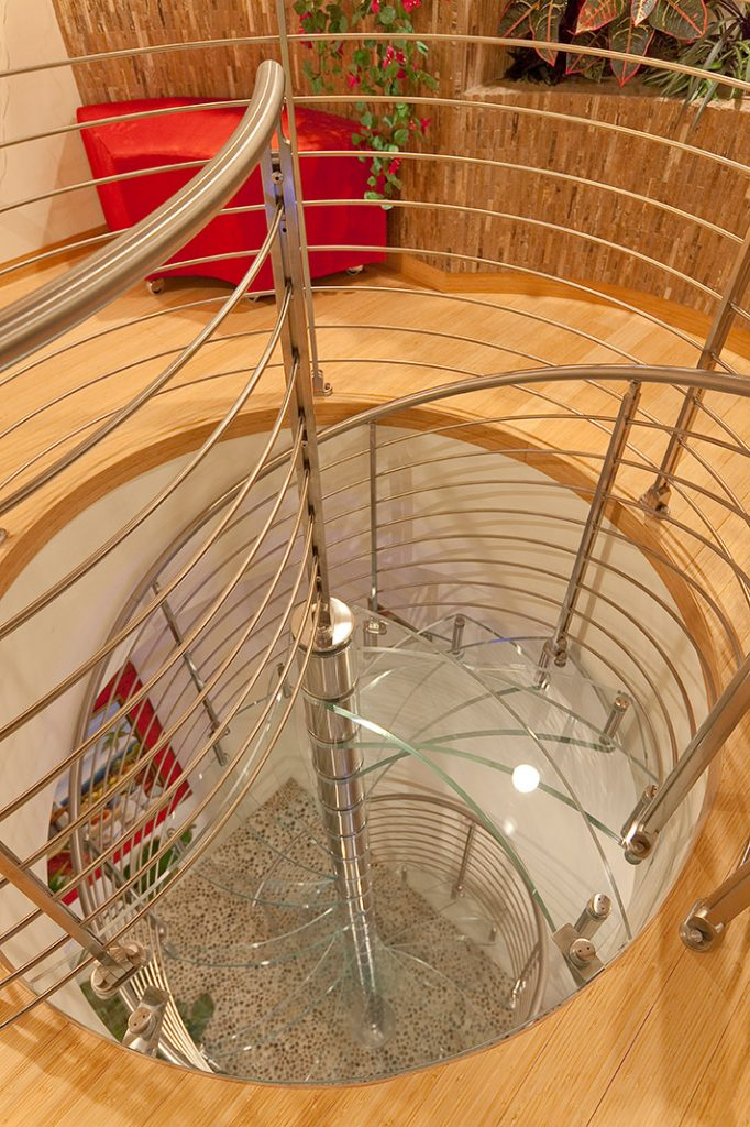 luxury custom home las vegas interior spiral staircase