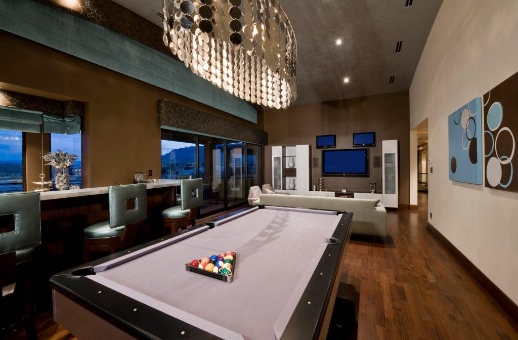 luxury custom home las vegas interior game room