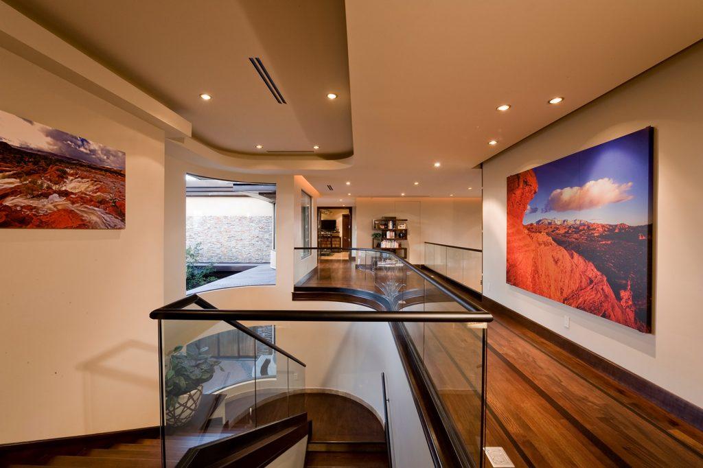 luxury custom home las vegas interior staircase
