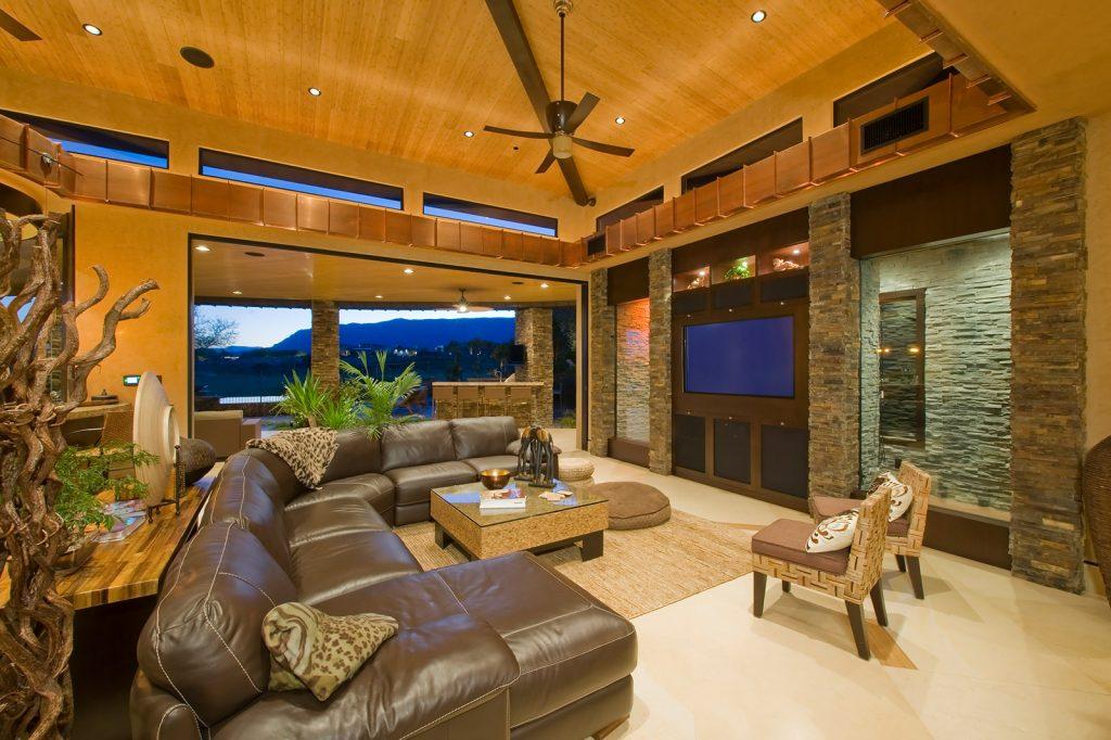 luxury custom home las vegas interior living room