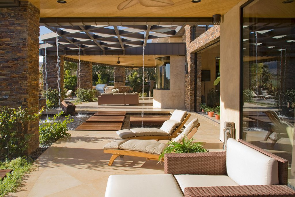 luxury custom home las vegas exterior backyard