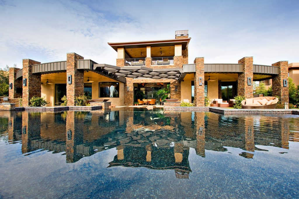 luxury custom home las vegas exterior living room