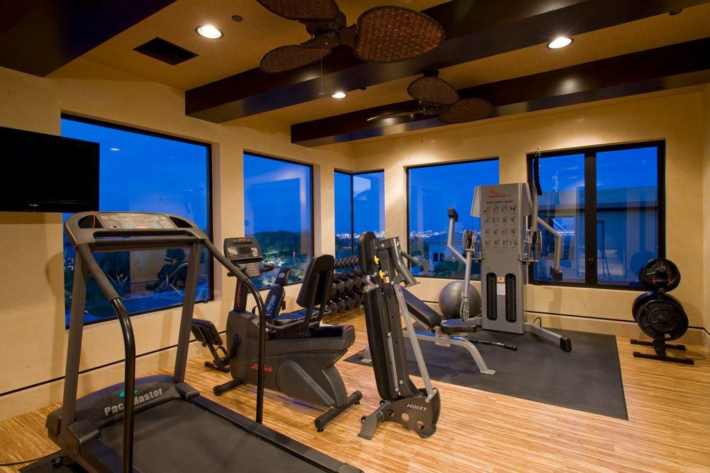 luxury custom home las vegas interior gym