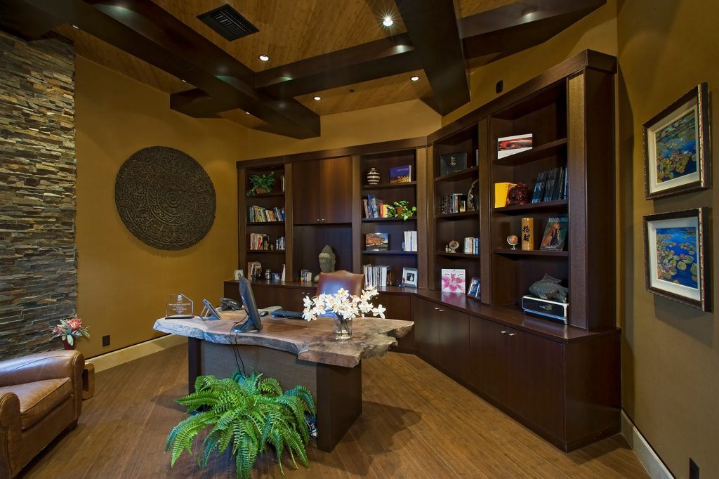 luxury custom home las vegas interior office