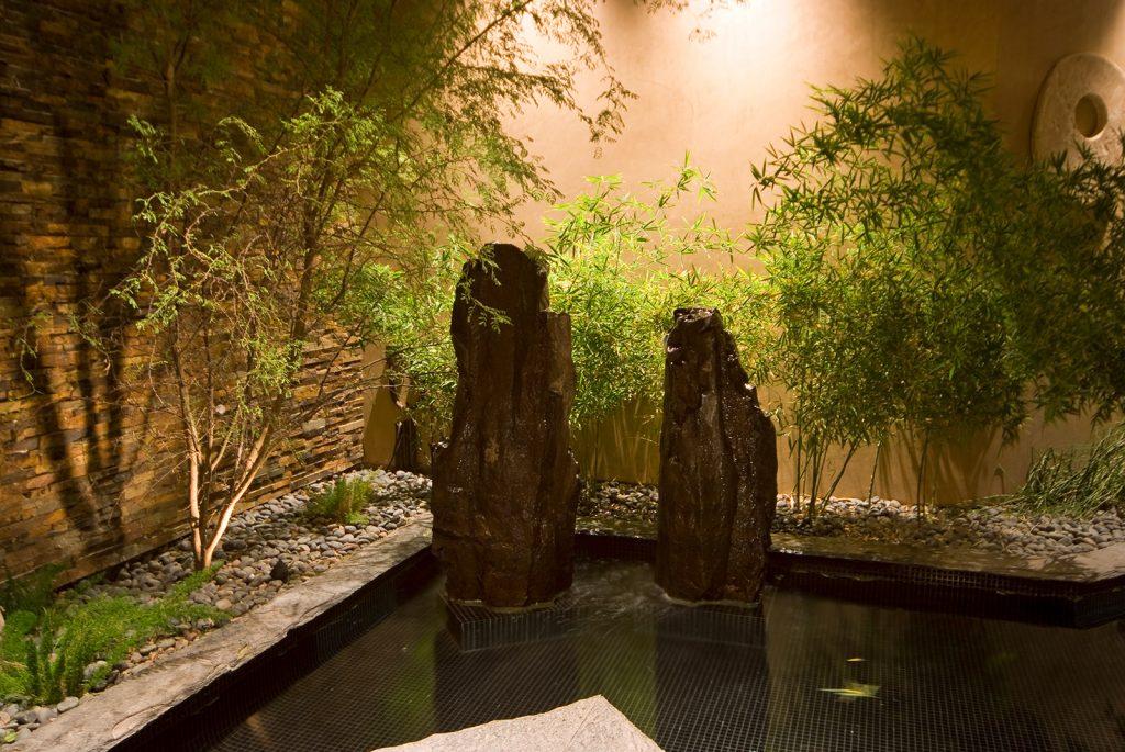 luxury custom home las vegas interior zen pond
