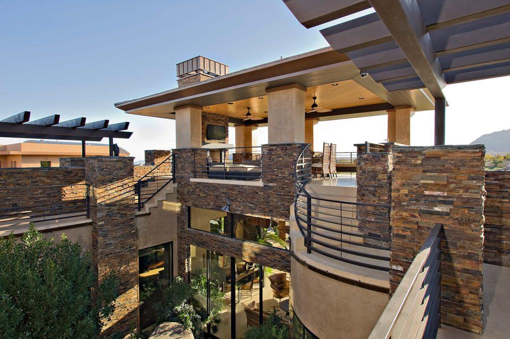 luxury custom home las vegas exterior view