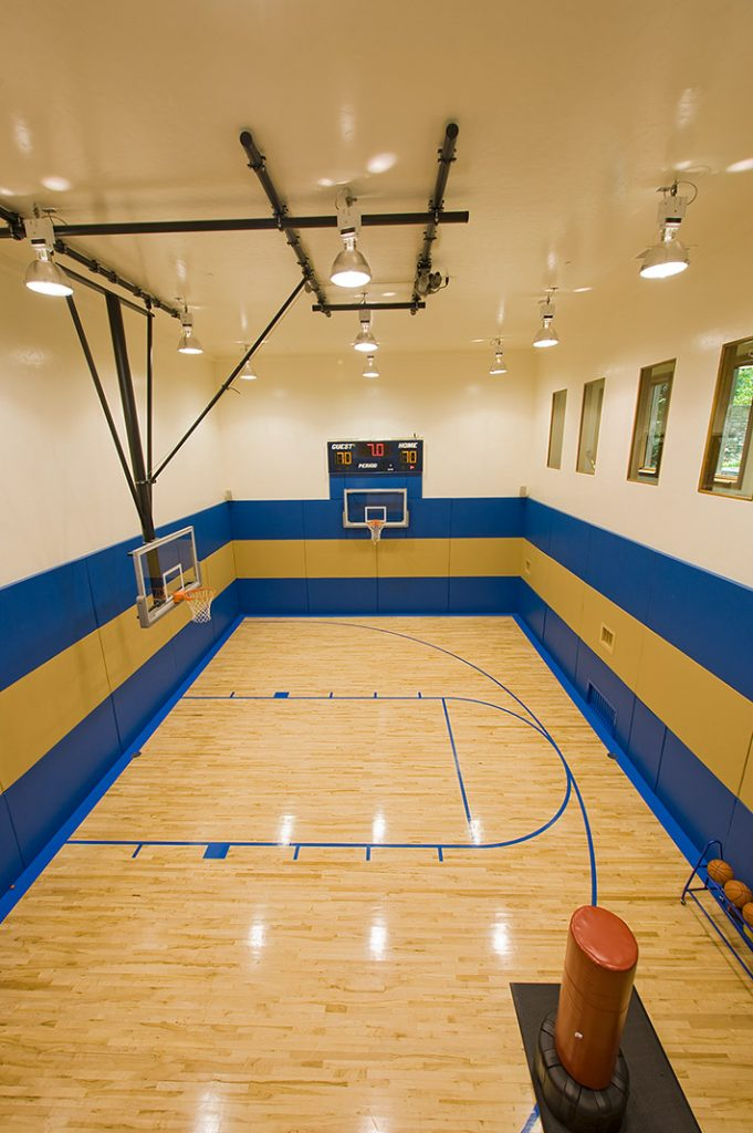luxury custom home las vegas interior basketball court