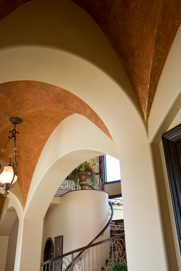 luxury custom home las vegas interior archway