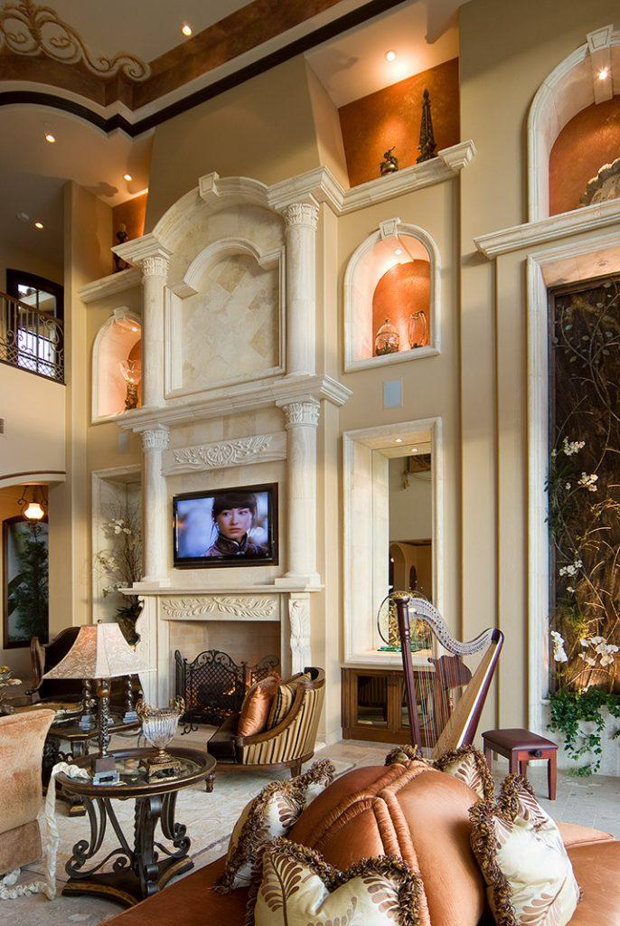 luxury custom home las vegas interior great room