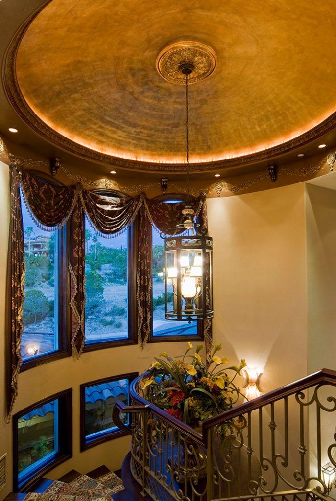 luxury custom home las vegas interior stairway